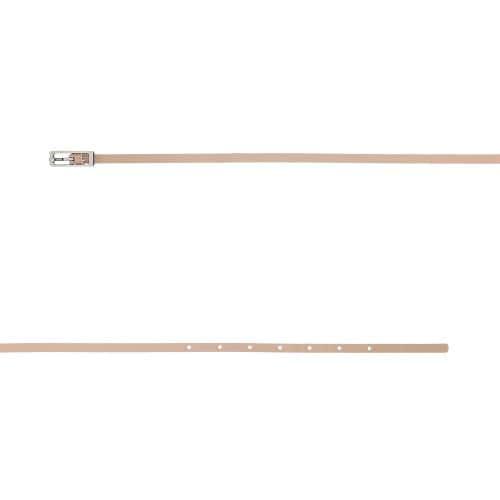 Jasnoróżowy pasek damski z prostokątną klamrą 93044-55