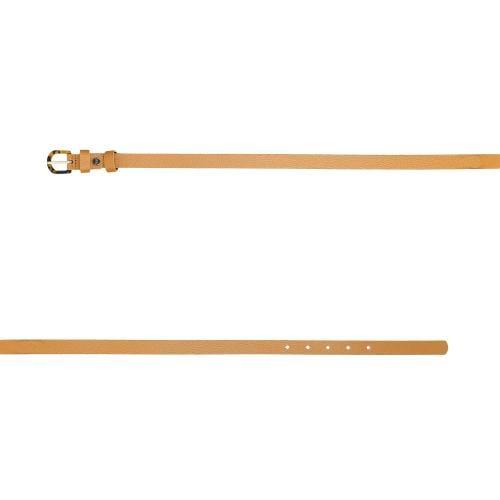 Jasnobrązowy pasek damski o szerokości 1,5 cm 93026-53
