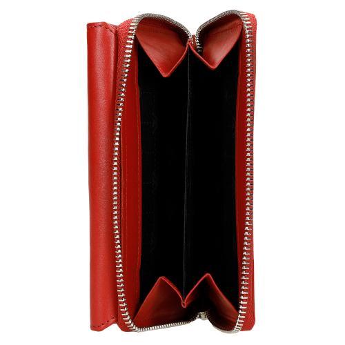 Duży czerwony skórzany portfel damski  91012-55