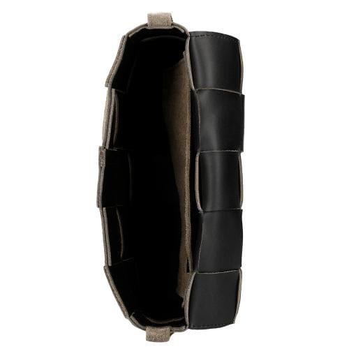 Beżowa przeplatana torebka skórzana  80123-63