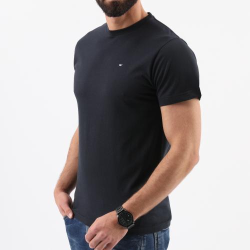 Granatowa bawełniana koszulka męska 9801086