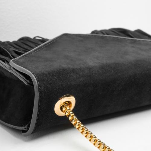 WJS boho czarna torebka damska z frędzlami WJS76026-21