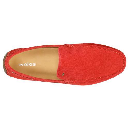 Czerwone mokasyny męskie 10047-65