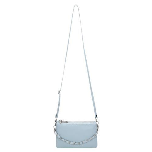 Niebieska skórzana torebka damska 80116-56