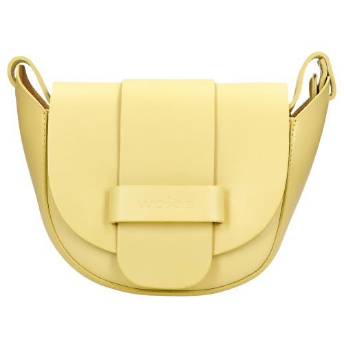 Żółta skórzana torebka damska na wiosnę 9816-57