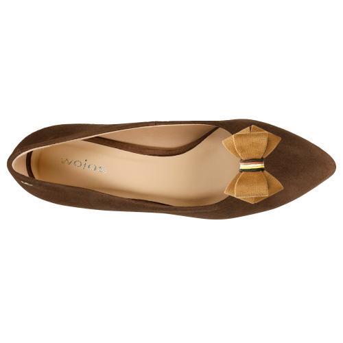 Brązowe kokardki do butów przypinane na klips 98510-13