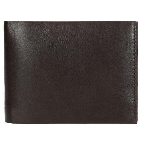 Brązowy skórzany portfel męski  91003-52
