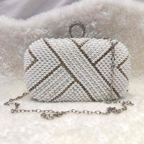 WJS torebka damska z białymi perełkami WJS76029-19