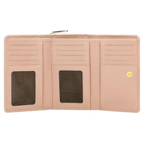 Skórzany portfel damski różowy 91024-54