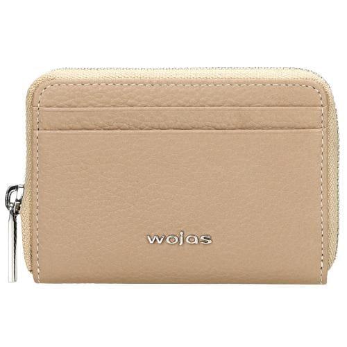 Mały skórzany portfel damski w kolorze beżowym 91020-53