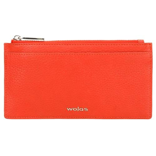 Skórzany portfel damski w kolorze koralowym 91023-55