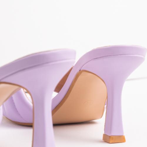 WJS fioletowe klapki damskie na szpilce WJS71024-56