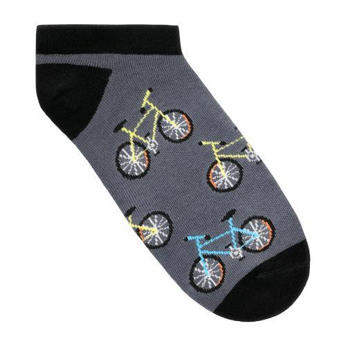 Popielato-czarne stopki z rowerowym motywem 97025-80