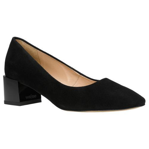 Čierne semišové lodičky sú nevyhnutnosťou každého botníka 35062-61