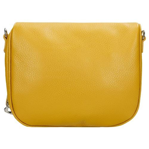 Żółta saszetka damska ze skóry licowej 80158-58