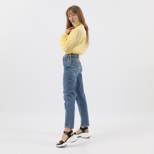 Czarne sandały damskie z modną grubą białą podeszwą 76095-51