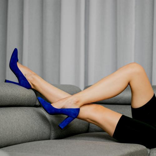Niebieskie czółenka damskie z kolekcji limitowanej 35042-66