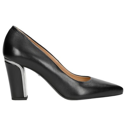 Čierne elegantné dámske lodičky nielen na pracovné dni 35044-51