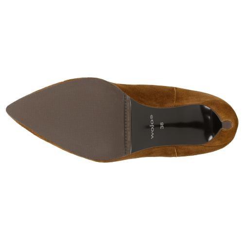 Eleganckie jasnobrązowe botki na szpilce 55006-63