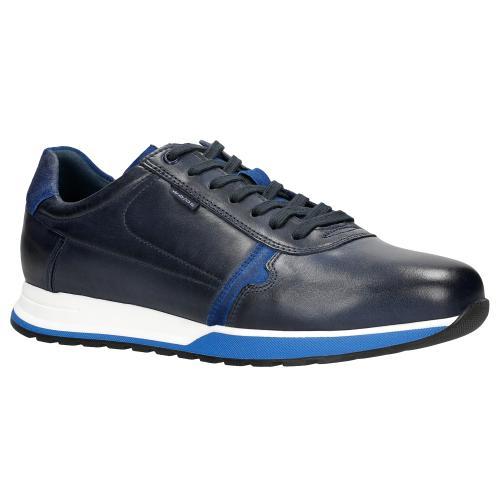 Wygodne granatowe sneakersy męskie z niebieskimi akcentami 10021-75