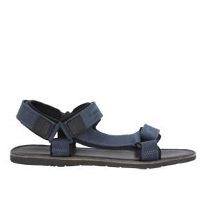 Granatowe sandały męskie z regulowanymi paskami 29003-96