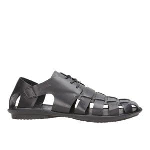 Czarne zabudowane sandały męskie 8303-51