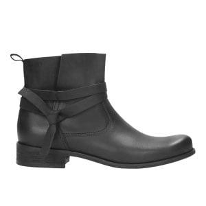 Czarne botki damskie 8629-51