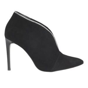 Czarne botki damskie 8590-61