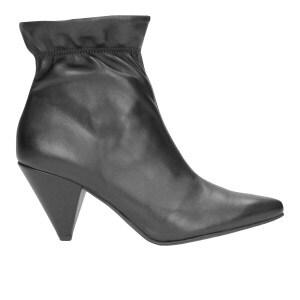 Czarne damskie botki 8645-51