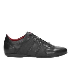 Sportowe  czarne półbuty męskie 9013-51