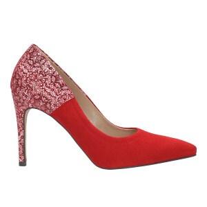 Czerwone czółenka damskie 8372-75