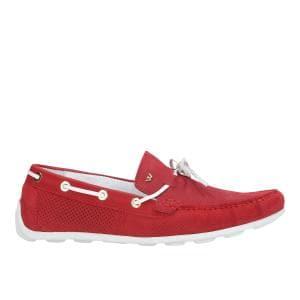 Czerwone półbuty damskie 9422-25