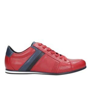 Czerwone półbuty męskie 9017-55