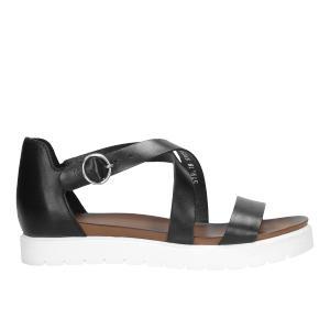 Czarne sandały damskie 9723-51