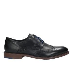 Czarne półbuty męskie 9072-51