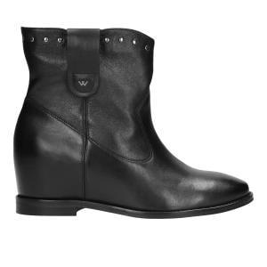 Czarne botki damskie 9556-51