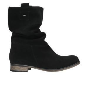 Czarne botki damskie 9573-61