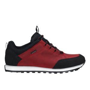 Czerwono-czarne trekkingowe półbuty damskie 46031-75