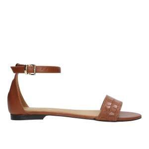 Jasnobrązowe sandały damskie z zakrytą piętą 76007-53
