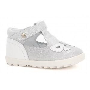Mini first steps BARTEK W-11467-3/1PU, dla dziewcząt, srebrno-biały W-11467-3/1PU