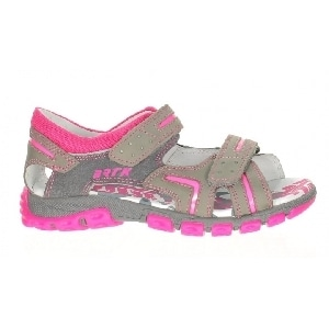 Sandały BARTEK T-66158/V84 II, dla dziewcząt, szaro-różowy T-66158/V84 II