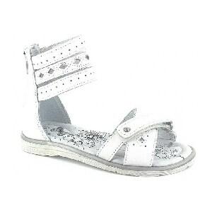 Sandały BARTEK W-46678/B87, dla dziewcząt, biały W-46678/B87
