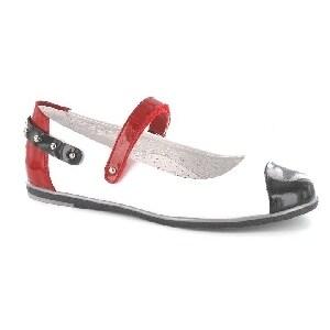 Czółenka BARTEK W-45374/H41, dla dziewcząt, biało-czerwono-granatowy W-45374/H41