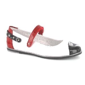 Czółenka BARTEK W-48374/H41, dla dziewcząt, biało-czerwono-granatowy W-48374/H41