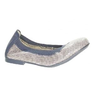 Czółenka BARTEK W-65436/26W, dla dziewcząt, beżowo-niebieski W-65436/26W