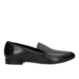Czarne eleganckie mokasyny damskie ze skóry licowej  46047-51