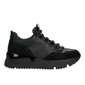 Czarne damskie sneakersy 8549 71 | Sklep online Wojas.pl