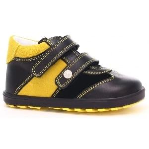 Trzewiki BARTEK W-11729-0/E89, dla chłopców, czarno-żółty 11729/0-E89
