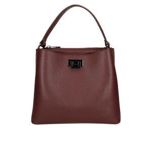 Bordowa torebka damska kuferek 80016-55