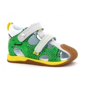 Sandały BARTEK W-081772-8/1IF II, dla chłopców, zielono-żółty W-081772-8/1IF II
